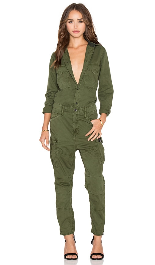 g star rovic boiler jumpsuit in bright rovic green revolve. Black Bedroom Furniture Sets. Home Design Ideas