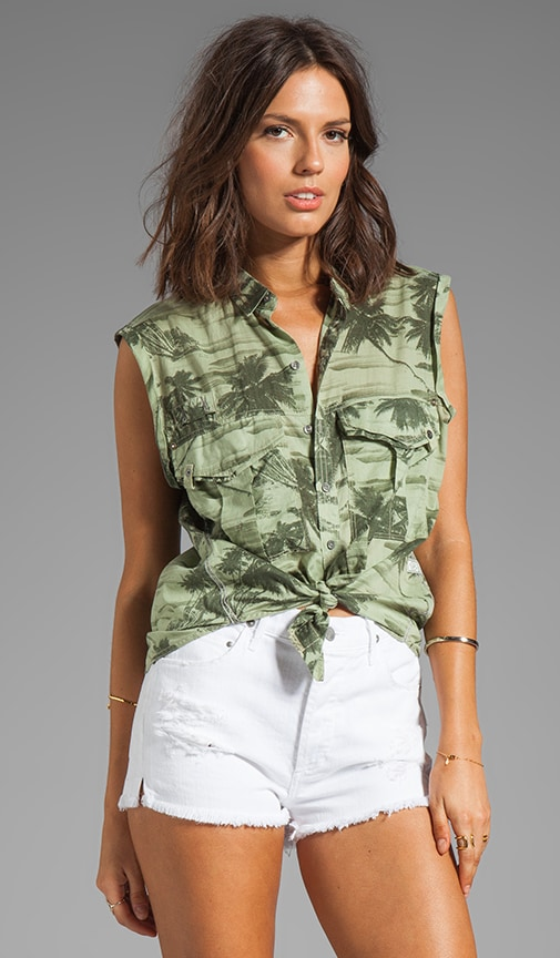 Beach Rovic Camo Boyfriend Shirt