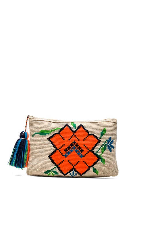 Guanabana Amapola Clutch in Gray