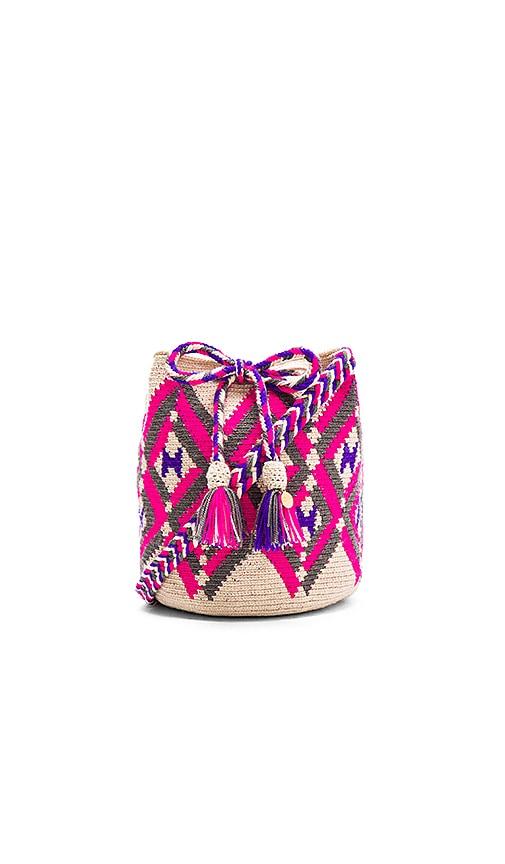 Guanabana Tribal Medium Bucket Bag in Pink