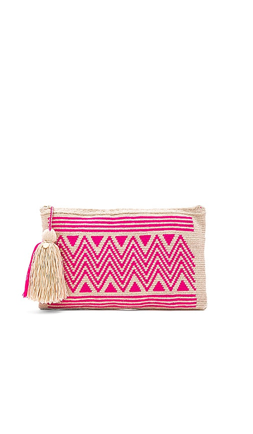 Guanabana By Sea Clutch in Pink