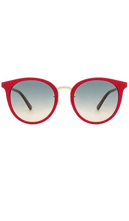 d1a6acf597db2 Gucci Round Frame Acetate and Metal in Red   Gold   Blue