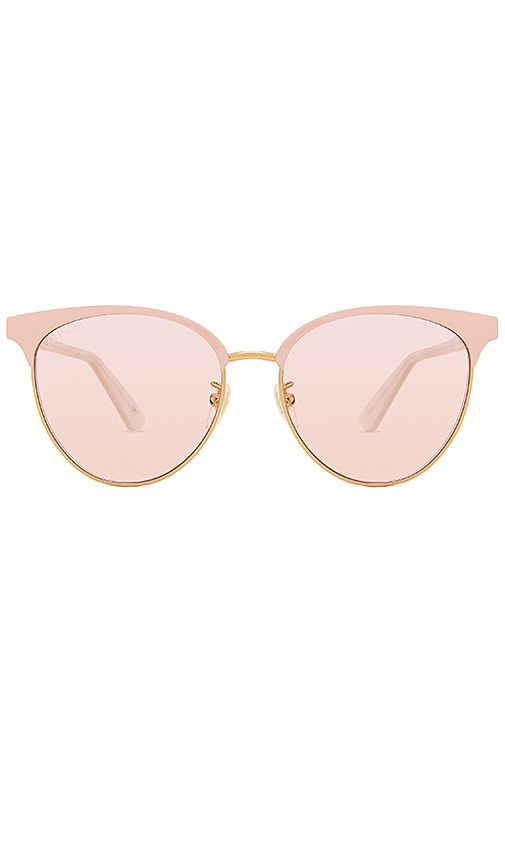0ae1dda291 Gucci Specialized Fit Round Metal in Shiny Endura Gold   Light Pink ...