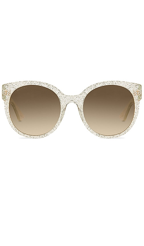 3aa5a9b5bd5d Gucci Round Frame Acetate in Silver & Brown | REVOLVE