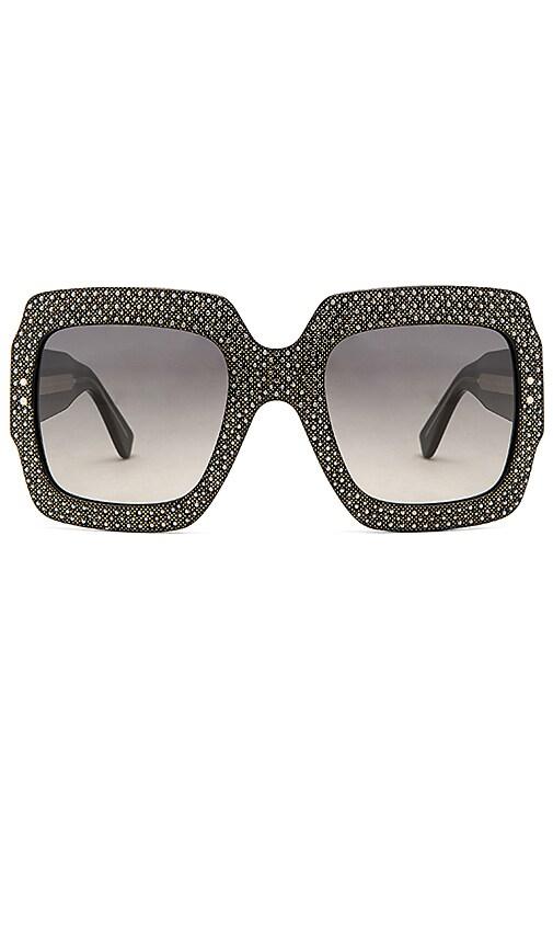 Gucci Oversize Square-Frame Acetate Sunglasses in Black