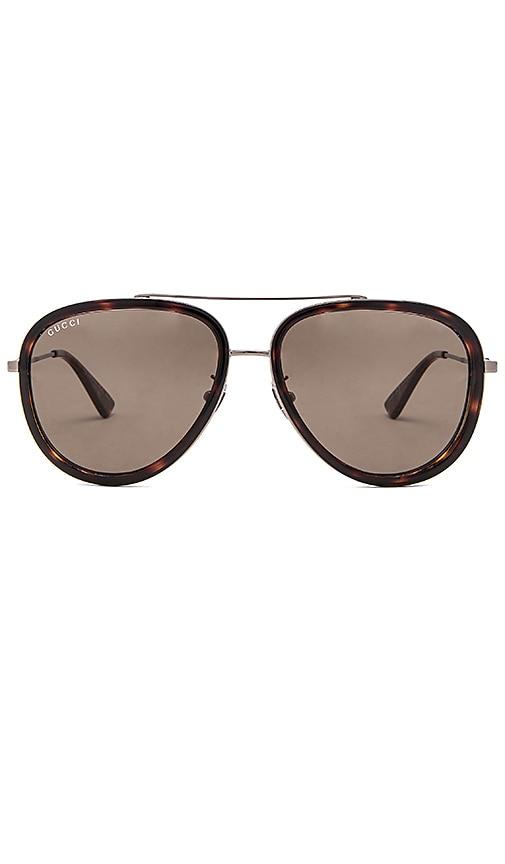 Gucci Aviator Sunglasses in Brown