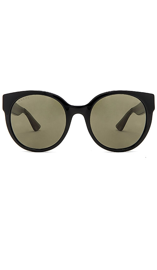 Gucci Round-Frame Acetate Sunglasses in Black