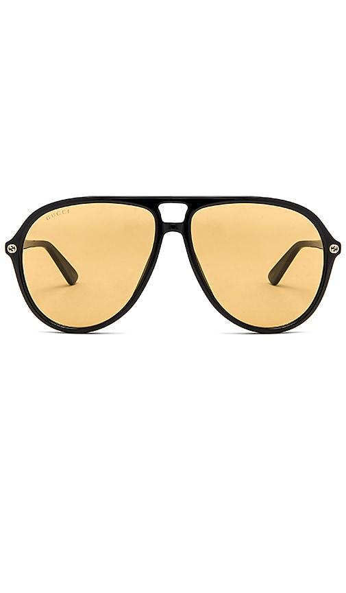 Gucci Acetate Aviator Sunglasses in Black