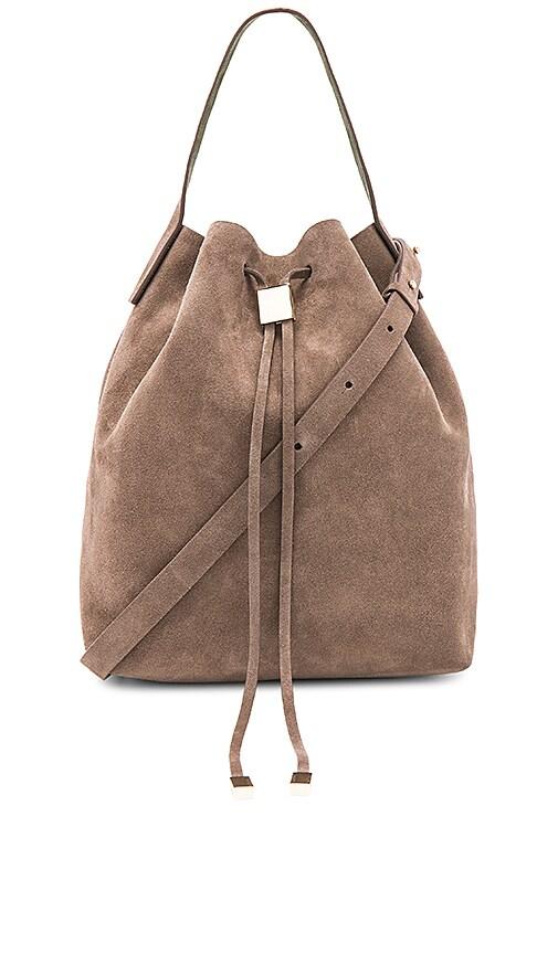 Gvyn Yuri Bucket Bag in Taupe