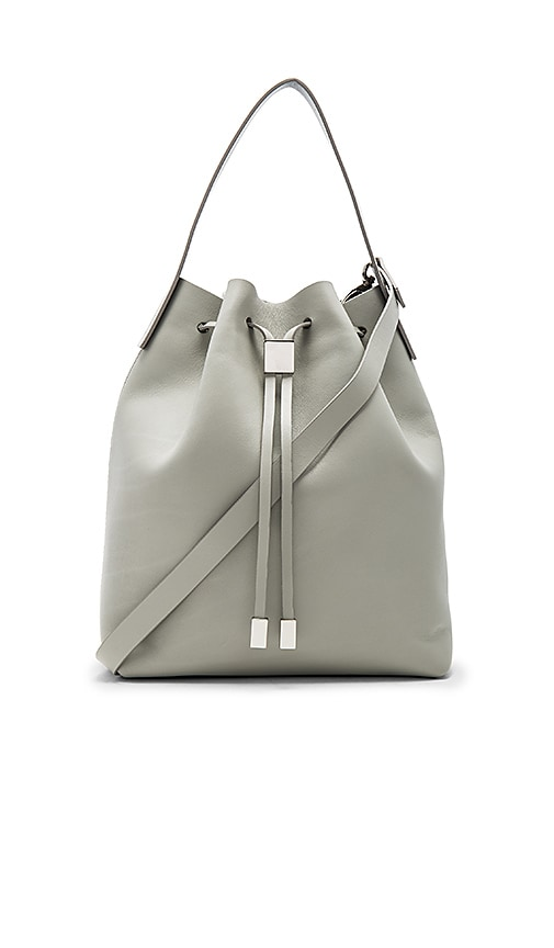 Gvyn Yuri Bucket Bag in Light Gray