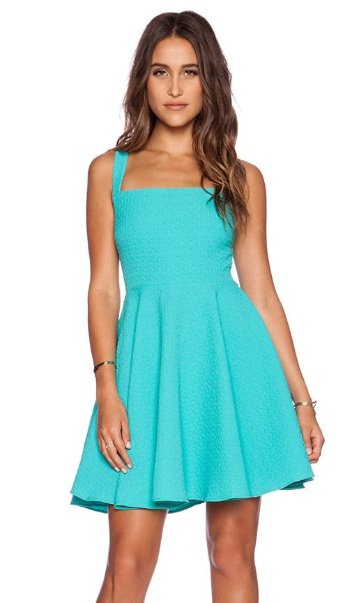 Greylin Aliz Skater Dress in Turquoise