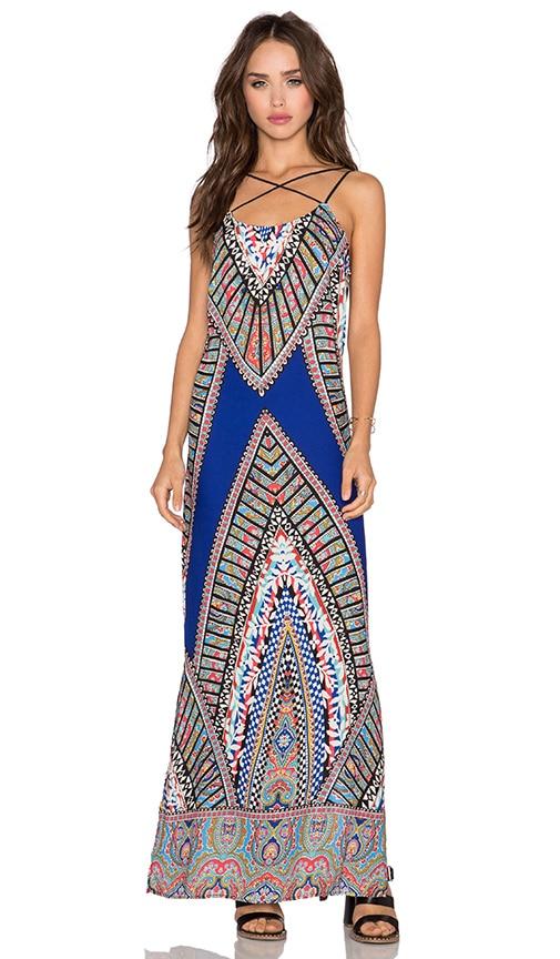 Greylin Fleur Maxi Dress in Cobalt Blue