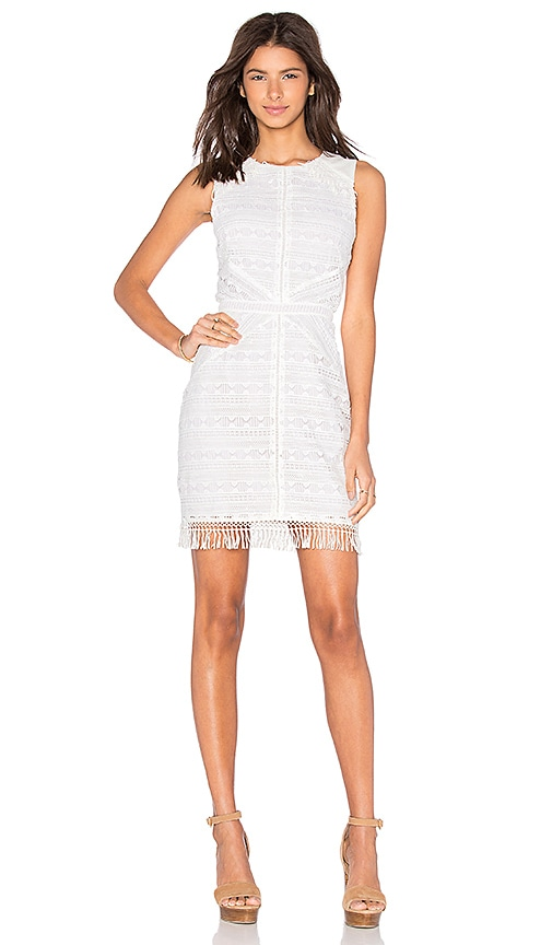 Mina Fringe Lace Dress