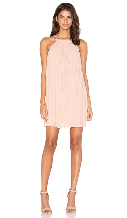 Greylin June Pleated Lace Back Dress in Blush