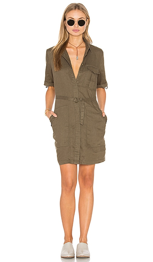 Elisia Linen Shirt Dress