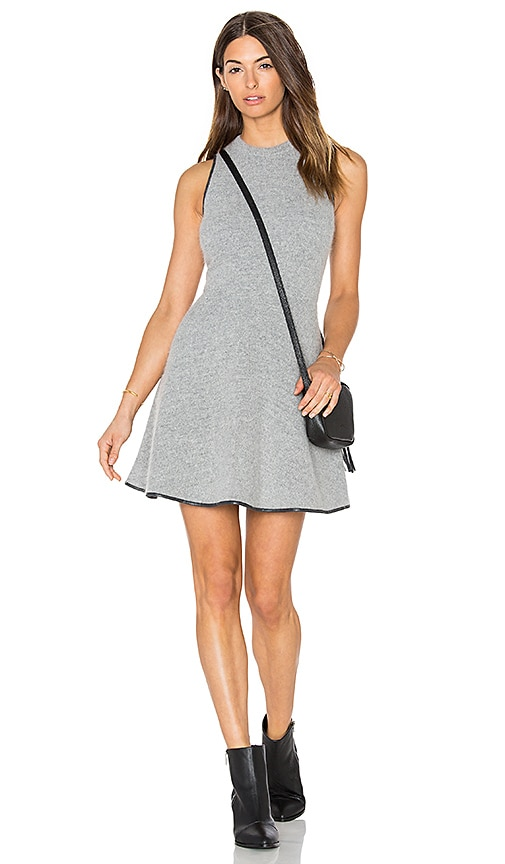 Greylin Barlow Mohair Sweater Knit Dress in Gray