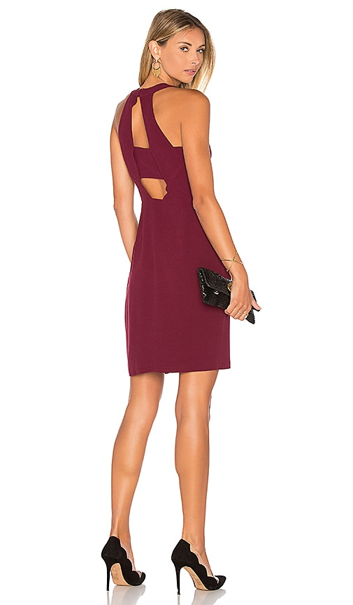 Greylin Cecilia Halter Dress in Wine
