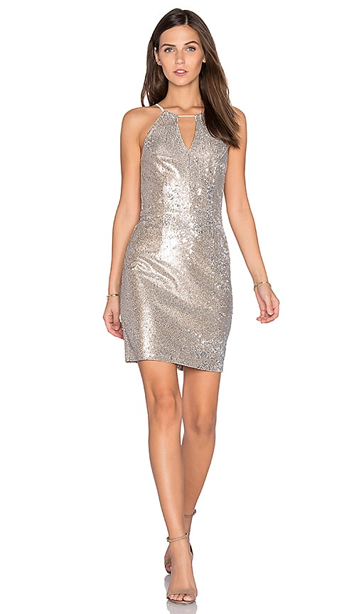 Greylin Taylor Sequin Dress in Metallic Silver