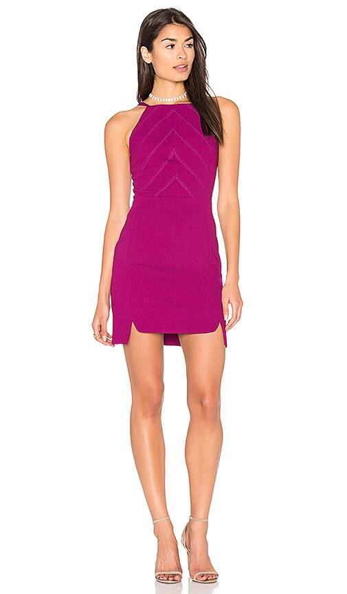 Greylin Hilary Double Slit Dress in Fuchsia