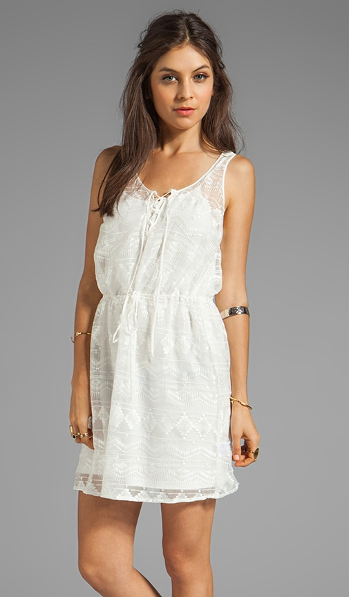Mila Embroidered Tank Dress