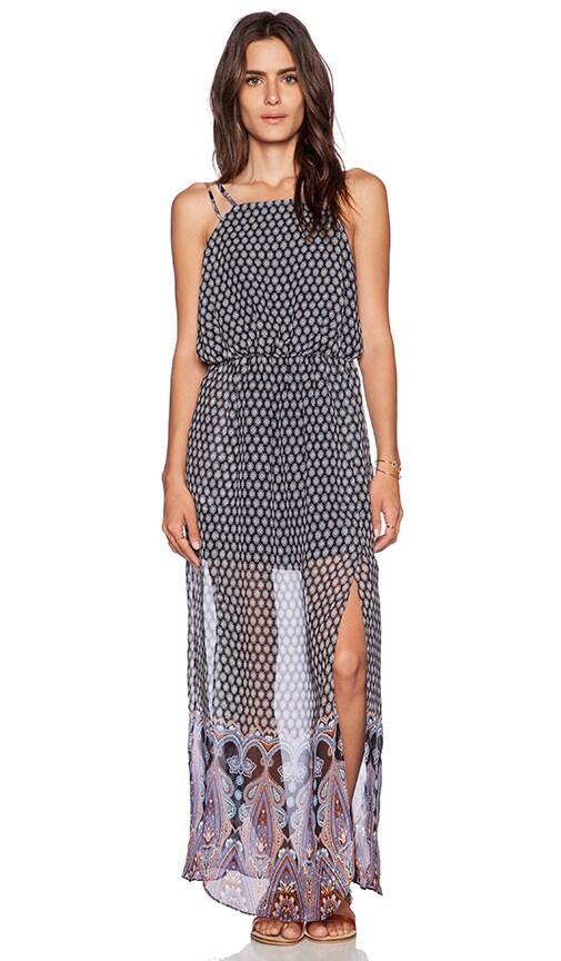 Greylin William Border Maxi Dress in Indigo