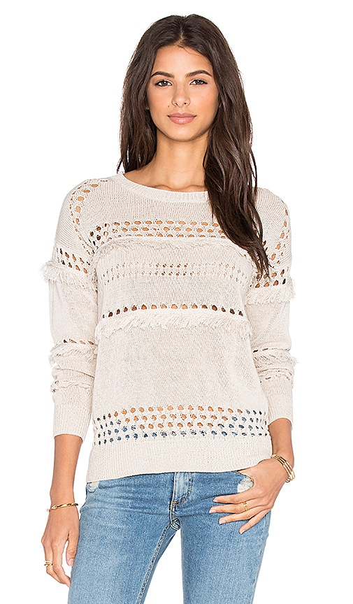 Greylin Isla Fringe Sweater in Sand