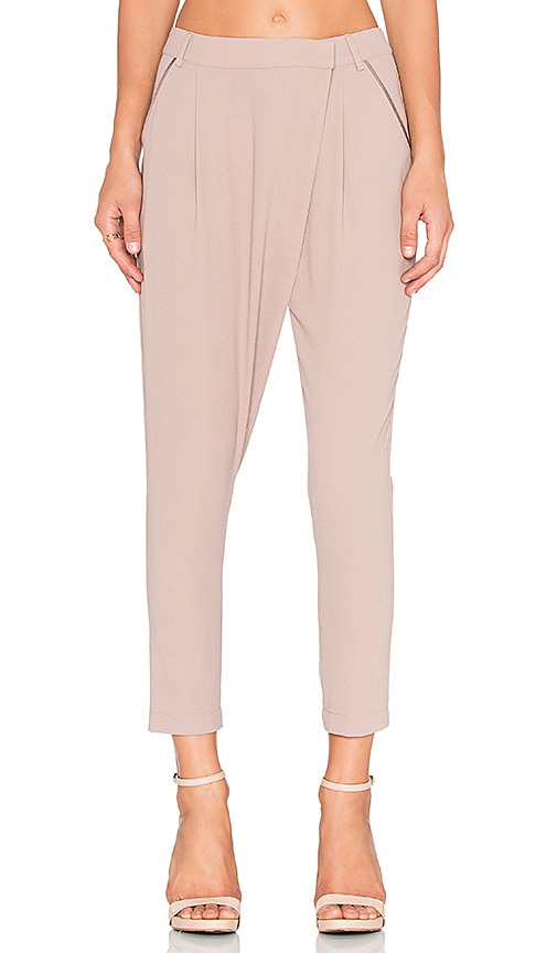 Greylin Era Wrap Front Pant in Gray