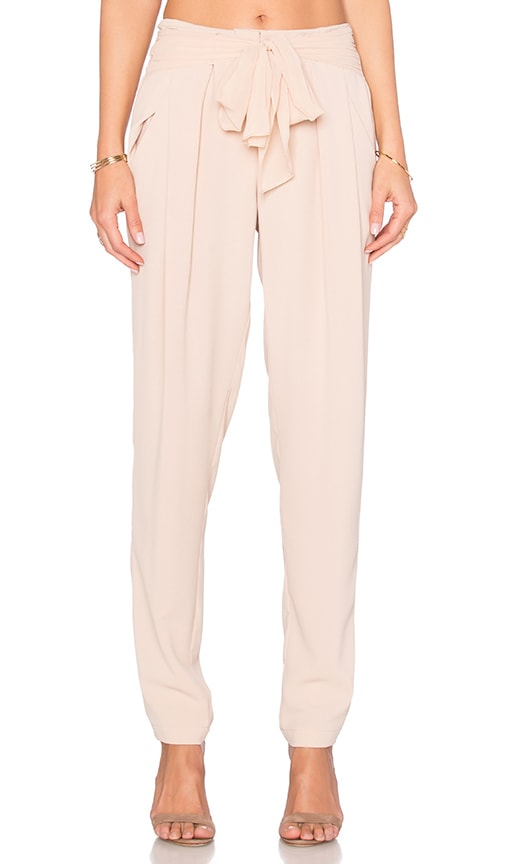 Greylin Thalia Belted Pant in Beige