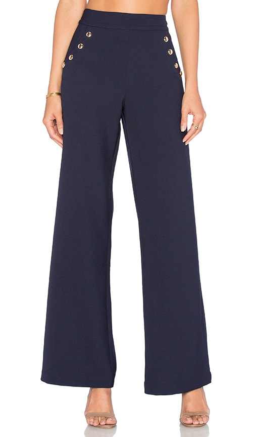 Greylin Alba High Waist Pant in Navy