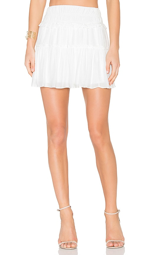 Greylin Alendra Smocked Skirt in White