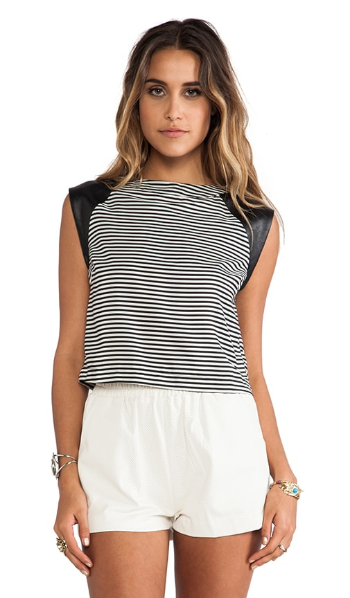 Casey Striped Cropped Top