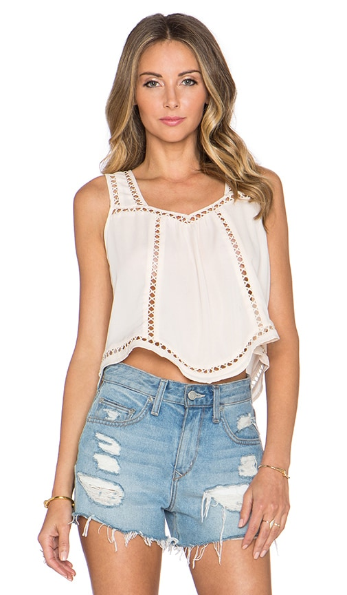 Greylin Charlotte Cropped Top in Ivory