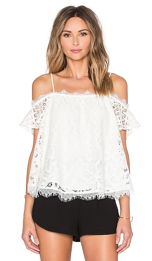 Cassis Lace Off Shoulder Top