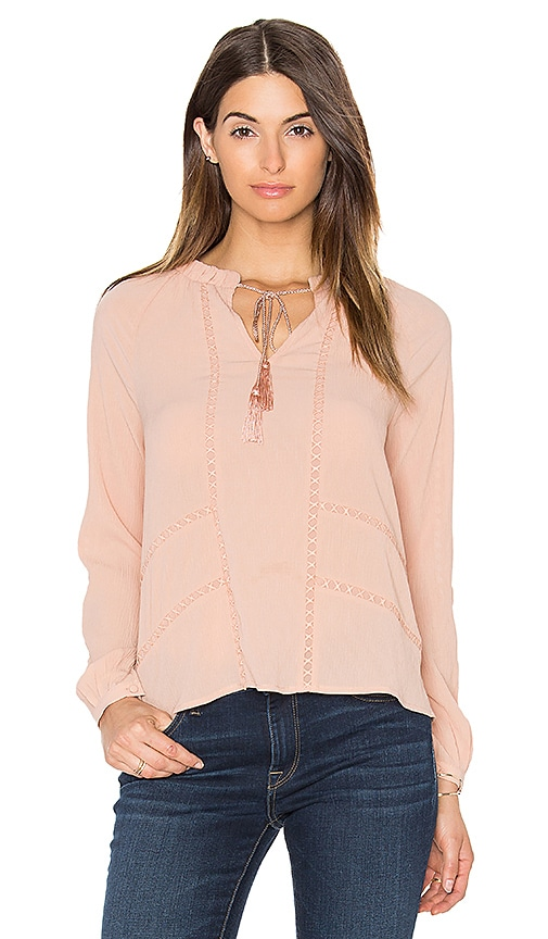 Greylin Trina Pleated Blouse in Peach