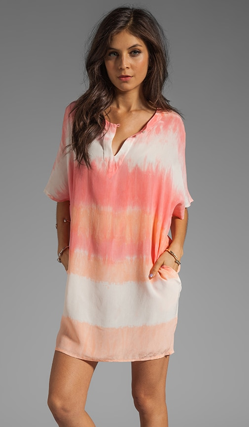 Hampton Silk Split Neck Dolman Sleeve Tunic Dress