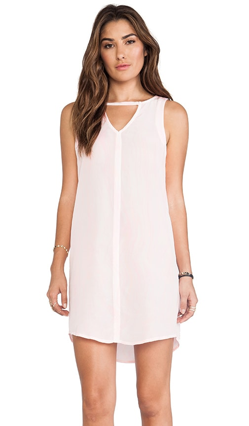 Hampton Silk S/L Deep V-Neck and Hem Mini Dress