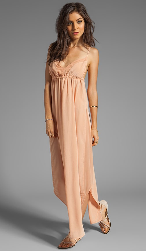 Punta Cana Silk V-Bottom Maxi Dress