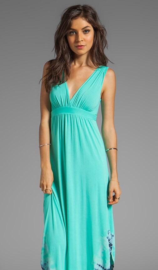 La Ba Dee Bamboo Twist Shoulder Gypsy V-Bottom Dress