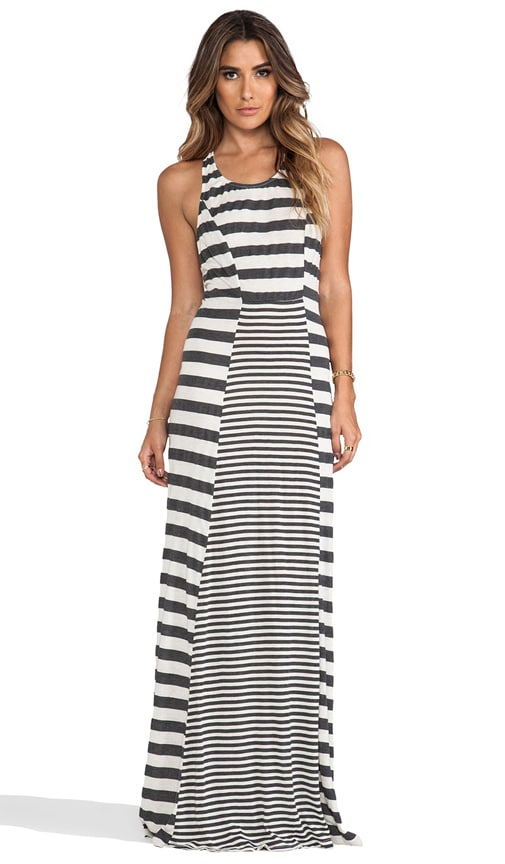 Saint Malo Knit Jersey Stripe Panel Maxi Tank Dress
