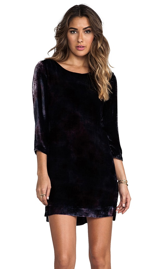 Velvet Long Sleeve Peephole Dress