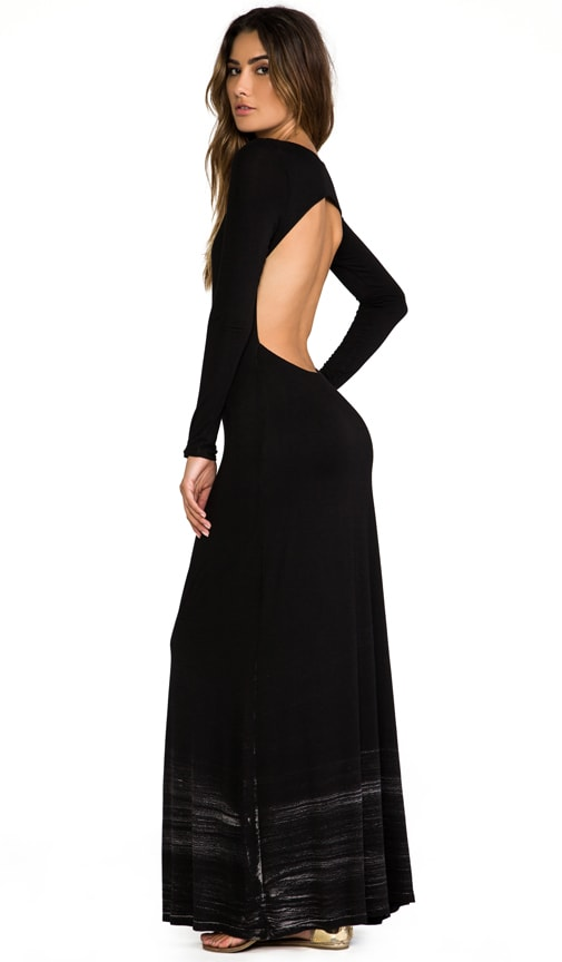 Long Sleeve Open Maxi Dress