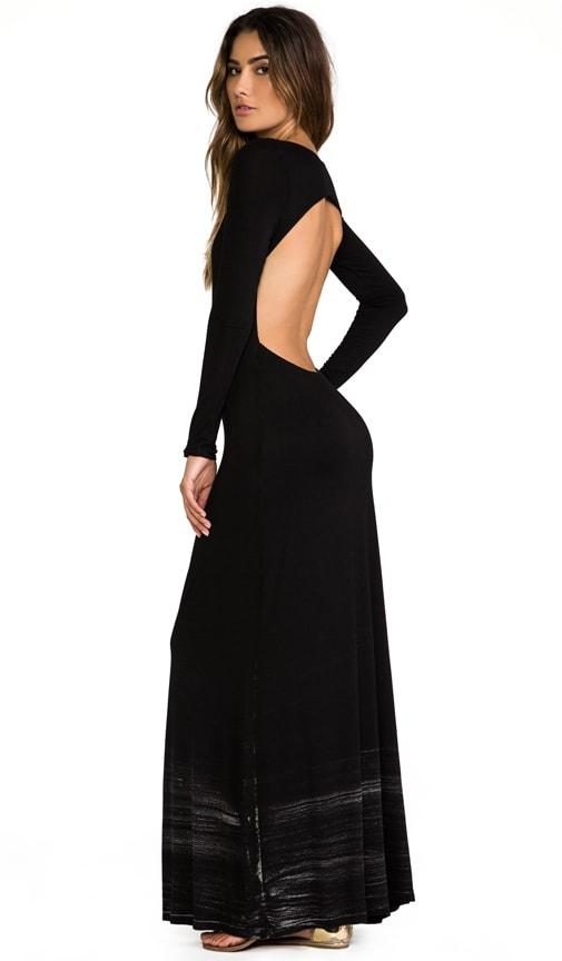 Long Sleeve Open Maxi Dress