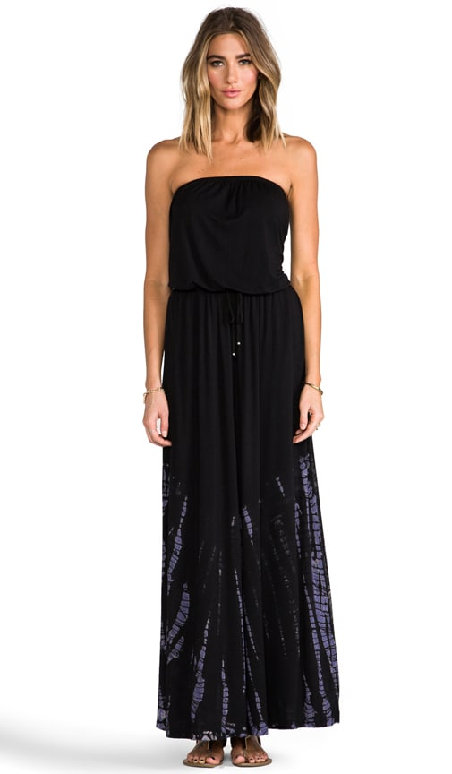 Drawstring Tube Maxi Dress