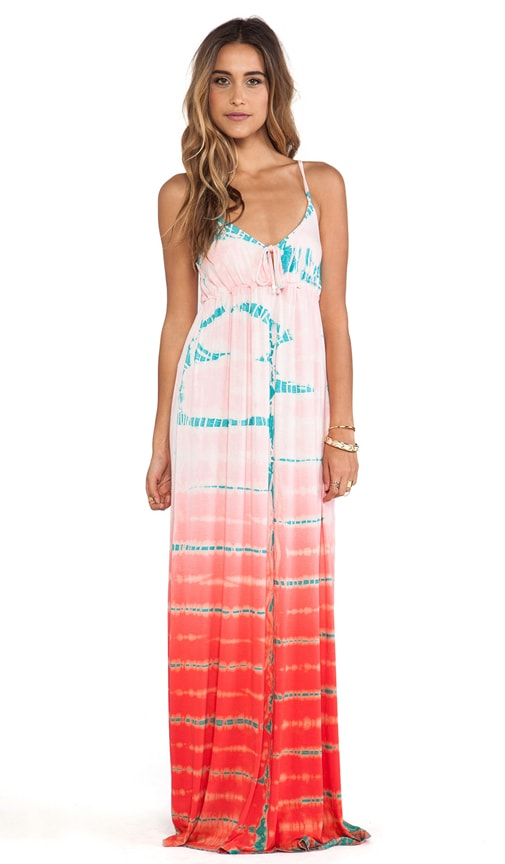 Empire Spaghetti Tie Maxi Dress