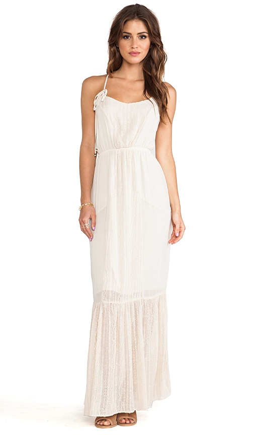 Ara Embroidered Panel Maxi Dress
