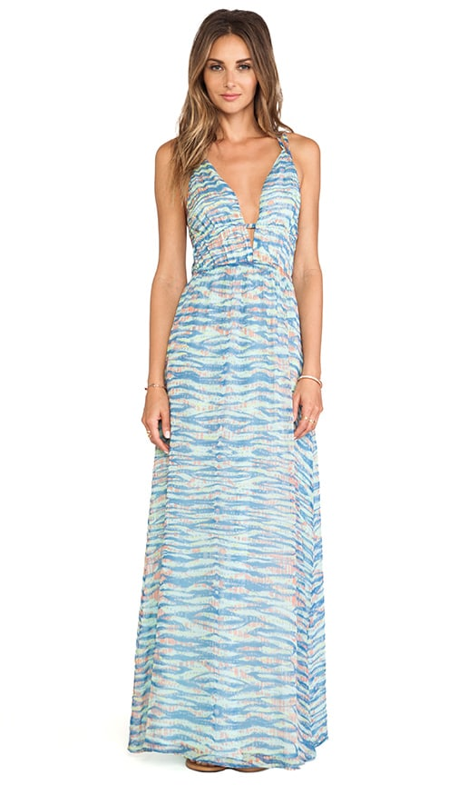 Suez V Front Maxi Dress