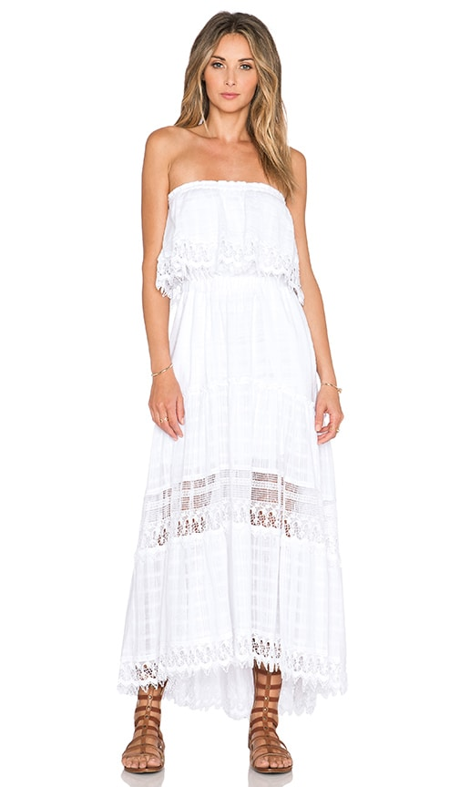 Gypsy 05 Strapless Maxi Dress in White