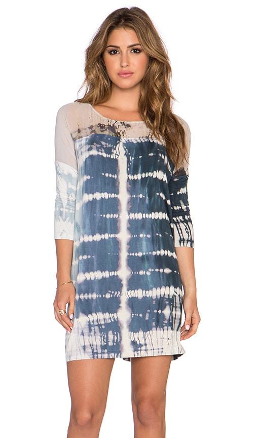 Gypsy 05 Bamboo 3/4 Sleeve Dolman Mini Dress in Midnight