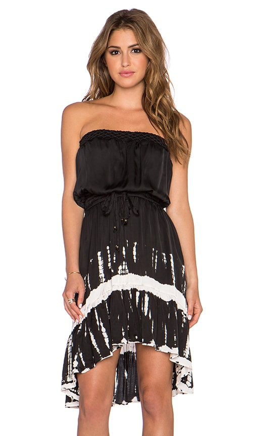 Gypsy 05 Strapless Hi-Low Mini Dress in Black