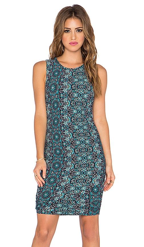 Gypsy 05 Shirred Mini Dress in Blue Multi